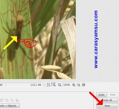 Simbol Anak Panah sudah terpasang di foto/gambar