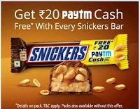 Paytm Snicker Offer