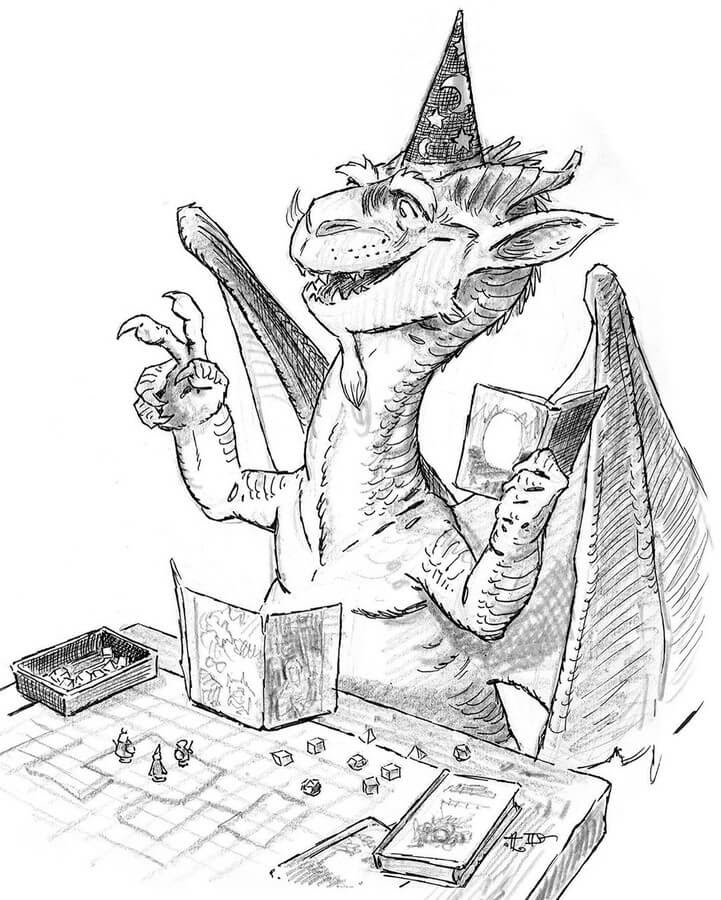 08-Dragon-Dungeon-and-Dragons-Tony-DiTerlizzi-www-designstack-co