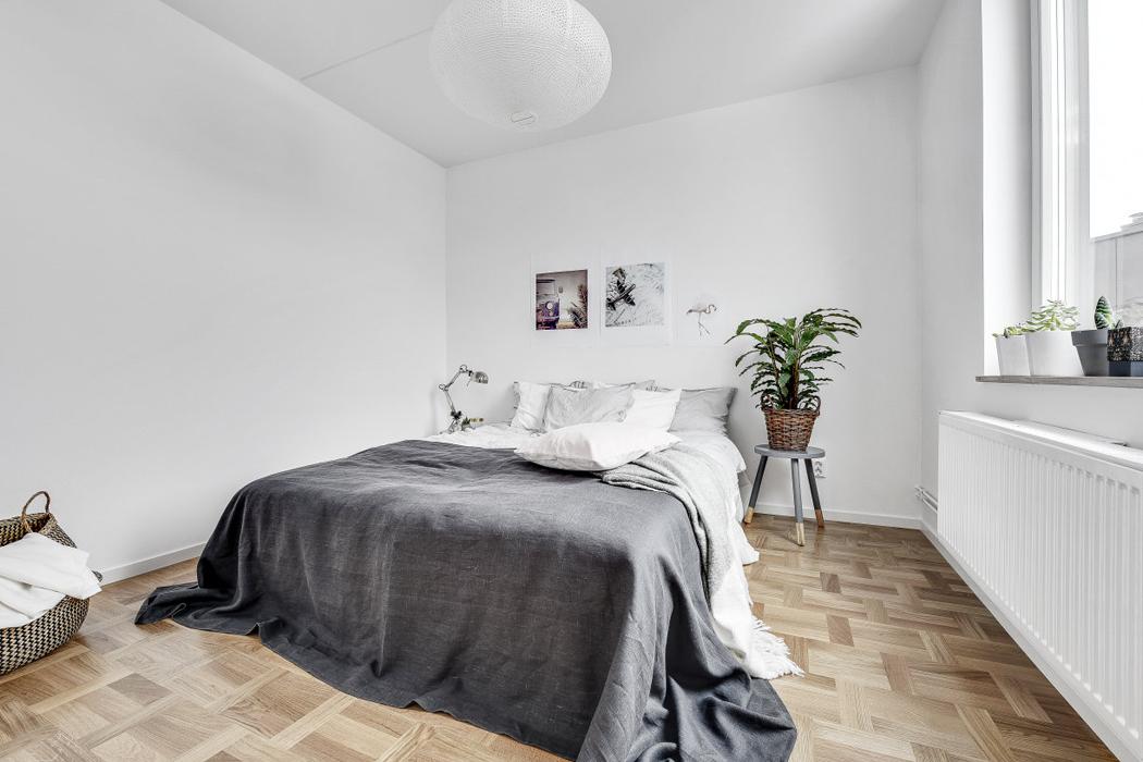 dormitorio apartamento decoracion blanco y negro