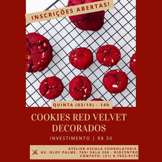 Cookies Red Velvet - Outubro 2019