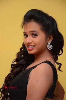 Actress Nakshatra Pictures in Black Long Dress at Miss South India 2016 Press Meet  0011.jpg