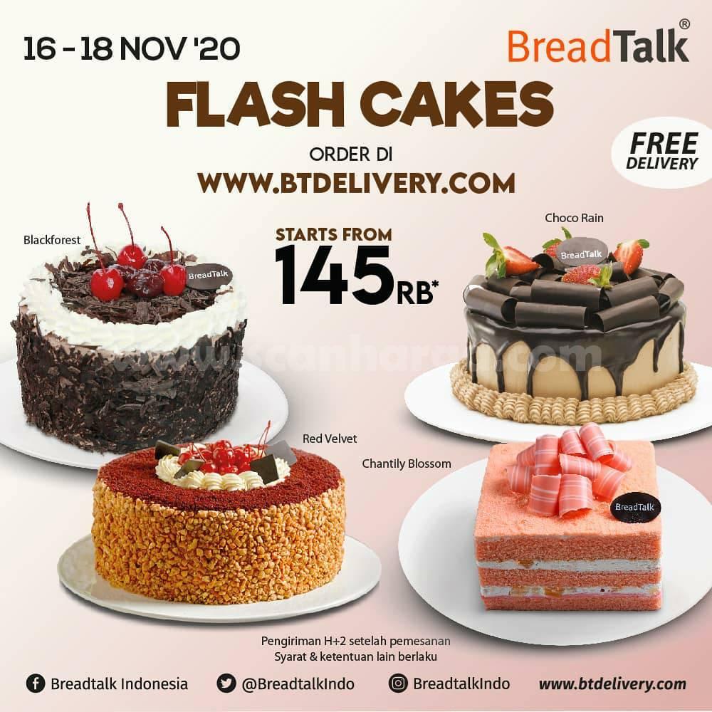 Promo Breadtalk Flash Cake: Harga Spesial Whole Cake mulai Rp 145rb*