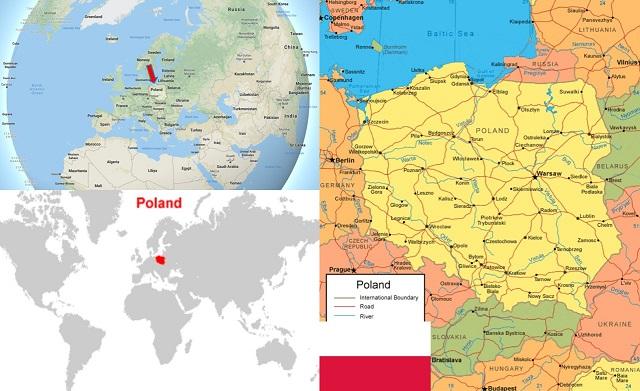 peta negara polandia