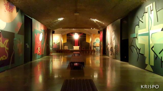 vista general de la cripta del santuario de aranzazu