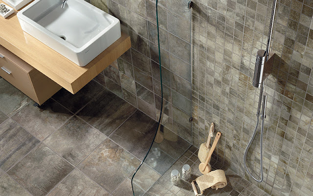 Tile walls and floors make a beautiful and practical bathroom