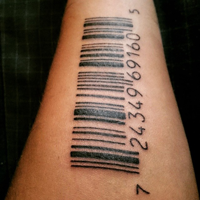 21 Gambar Tattoo 3D Barcode Keren Terbaru Di Lengan, Punggung Dan Kepala Versi Wahok