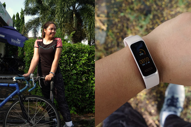 Patty Villegas - The Lifestyle Wanderer - Huawei - Band - 4 - Wearables - Sakura Pink