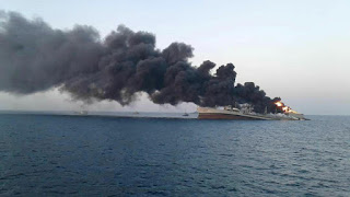 Biggest ship in Iran's navy catches fire and sinks under unclear