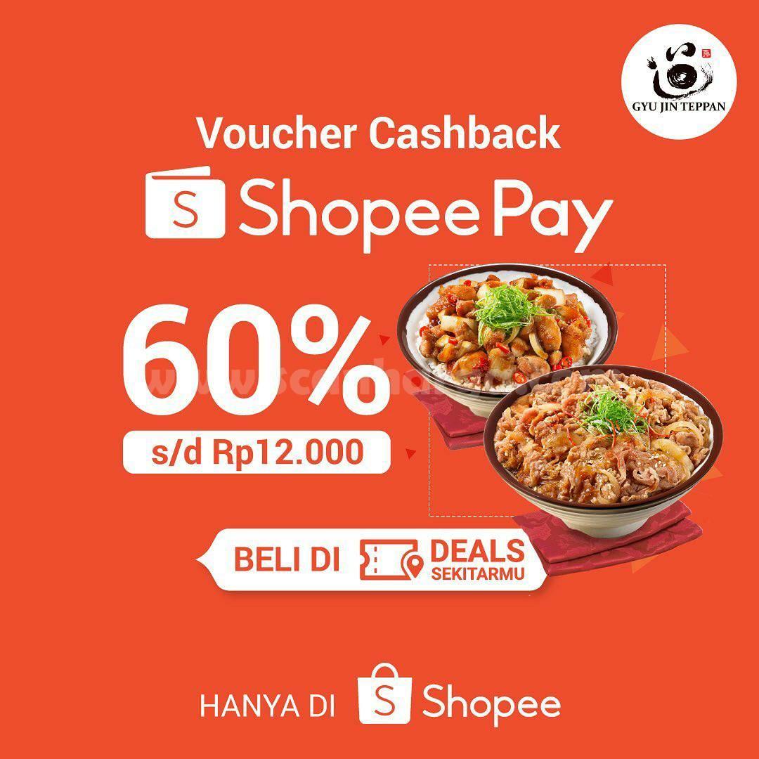 Gyu Jin Teppan Promo Voucher Deal! Cashback 60% dengan ShopeePay