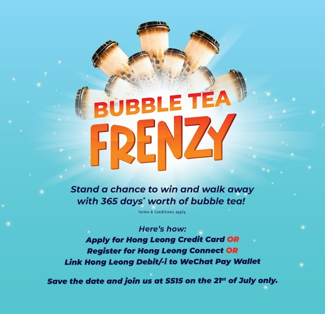 Hong Leong Bank's Bubble Tea Frenzy - Win 365 Days of FREE Bubble Tea!