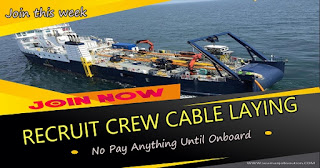 Hiring Fitter, Crane Operator For Cable Laying Barge Ship