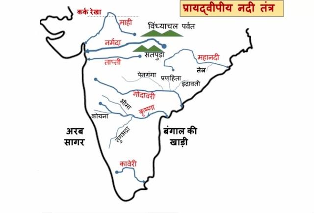 दक्षिण भारत की नदियाँ - Dakshin Bharat Ki Nadiya