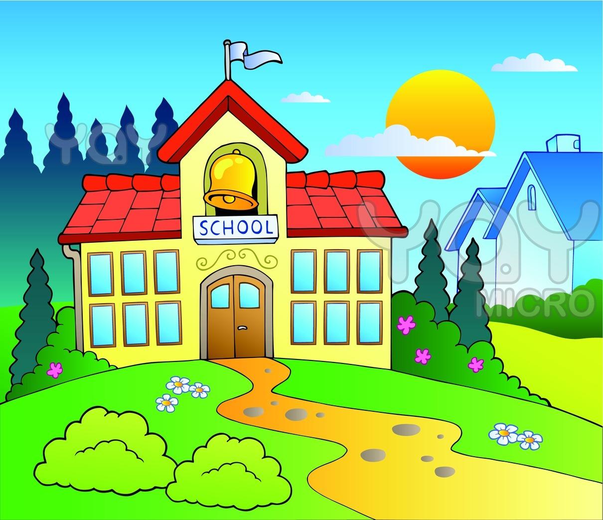 Gambar Animasi Gedung Sekolah Sd Nusagates