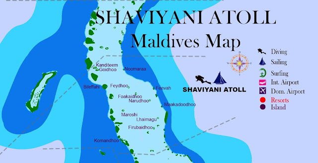Maldives Map atoll,shaviyani, island name