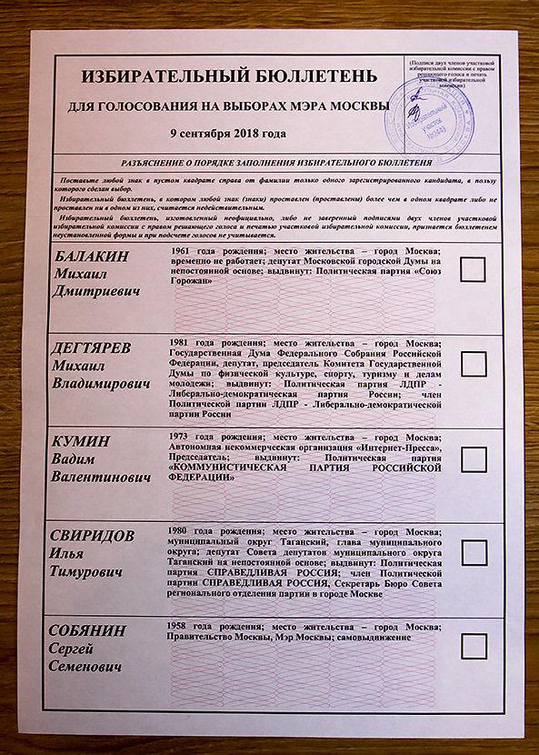 Как «химичат» на выборах при Собянине