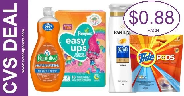 Pampers & Tide CVS Gift Card Deals