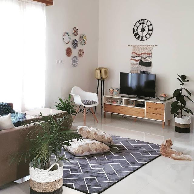 Desain Ruang Keluarga Minimalis Lesehan Terbaru