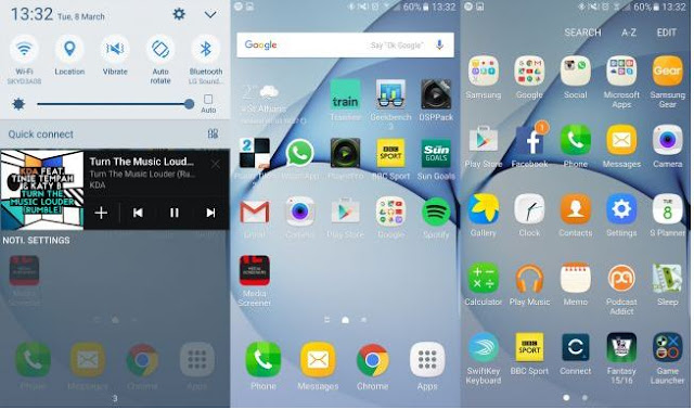Samsung Galaxy S7 Edge UI