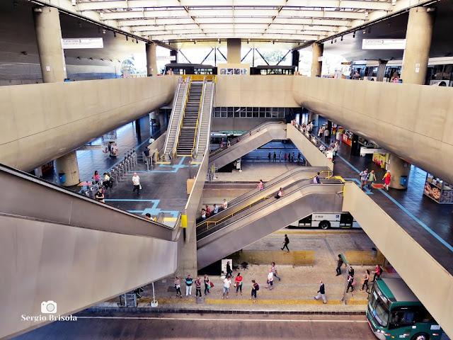 Vista do interior do Terminal Sacomã - Ipiranga - São Paulo