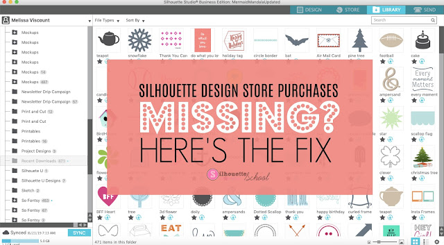 Silhouette 101, Silhouette America Blog, missing designs, silhouette design store, silhouette cameo library