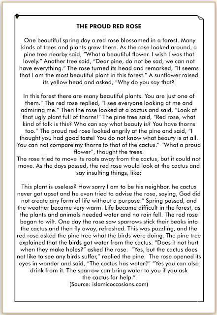 cerita bahasa inggris tentang kesombongan