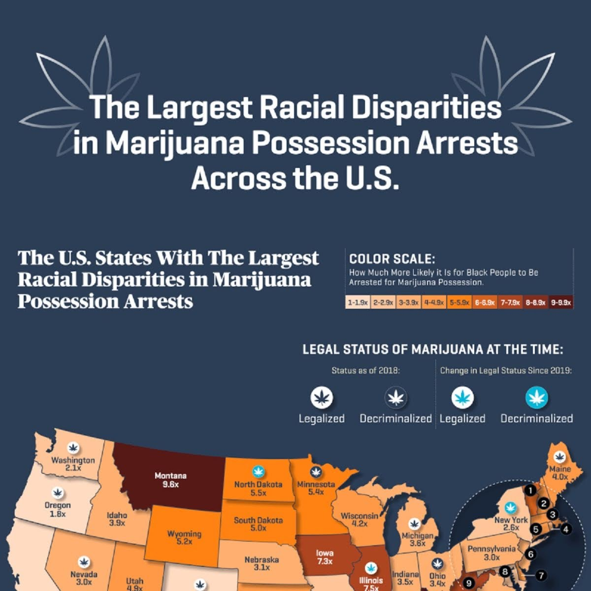 the-largest-racial-disparities-in-marijuana-possession-arrests-across-the-us-infographic