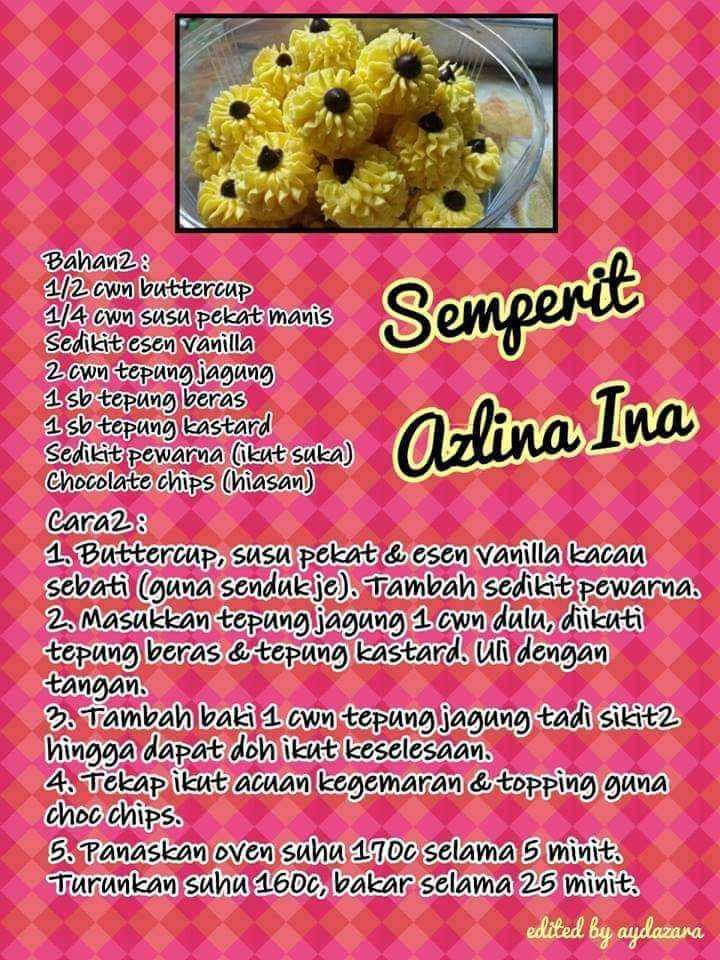 resepi semperit chocolate chip