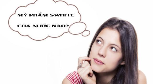 Mỹ phẩm swhite của nước nào?