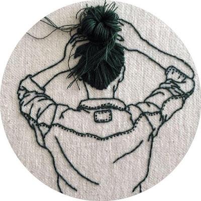 افتار مواقع التواصل فتاة رسم تطريز