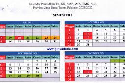 Kalender Pendidikan (Kaldik) 2021/2022 Jawa Barat (PDF)