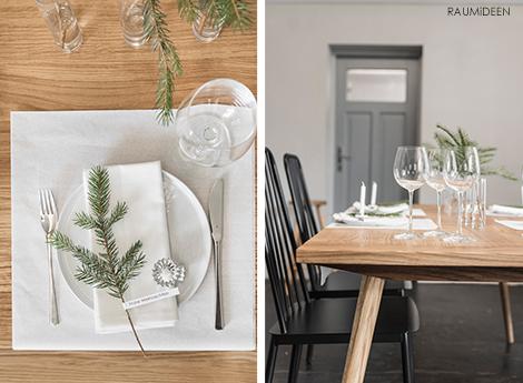 raumideen tischidee weihnachtliche tischdeko. Black Bedroom Furniture Sets. Home Design Ideas