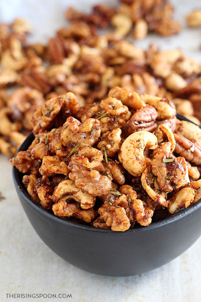 Savory Rosemary Spiced Nuts Recipe (Salty, Herbaceous, Spicy & Sweet)