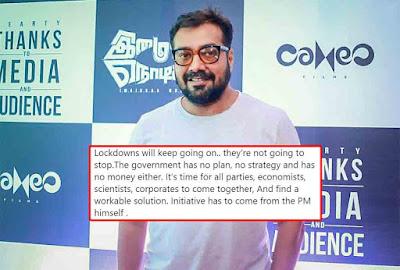 anurag kashyap slams government for lockdown 3.0