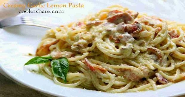 Creamy Garlic and Lemon Pasta