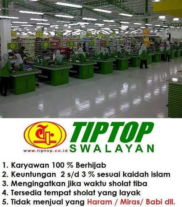 Supermarket TIP TOP Model Mall Islami di Indonesia
