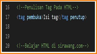 Pengertian Tag Pada HTML