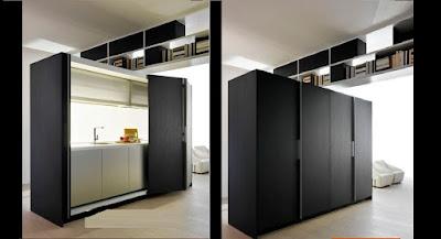 standalone hidden kitchen designs and ideas
