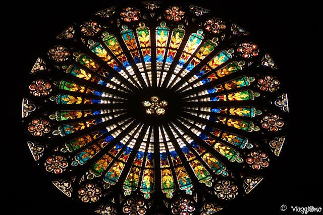 Splendido rosone della Cattedrale di Notre Dame di Strasburgo