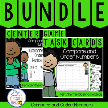 Fourth Grade Go Math 1.3 Compare and Order Numbers Bundle #FernSmithsClassroomIdeas