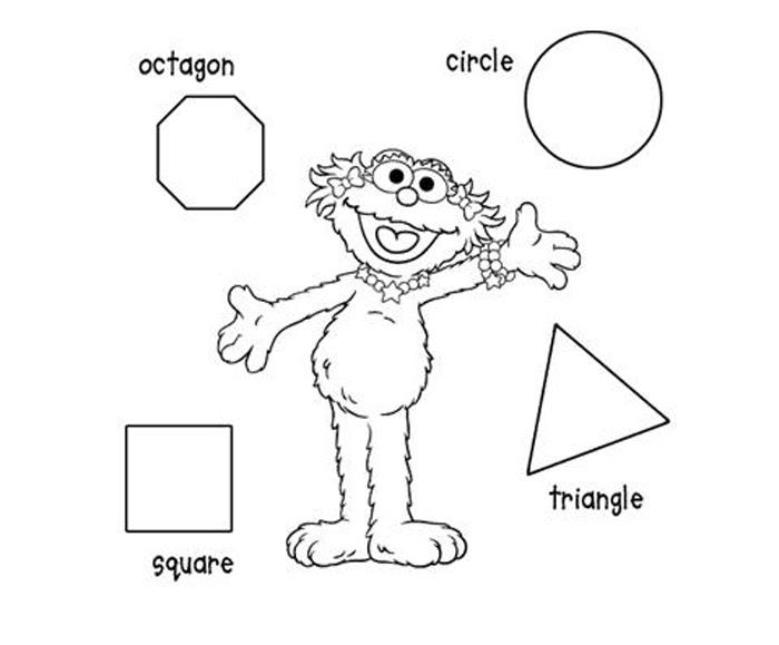 Geometric Coloring Sesame Street Child Coloring