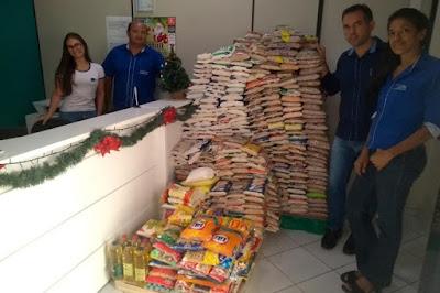 Brumado: CDL arrecada mais de uma tonelada de alimentos com a campanha Natal Solidário