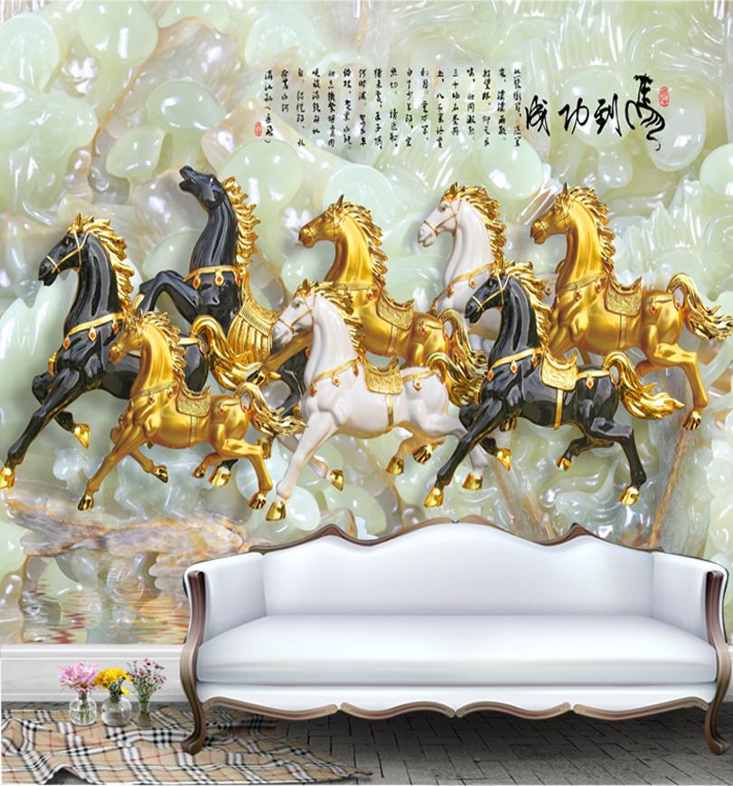 Tranh Ngựa giả Ngọc 3d