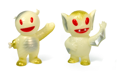 Glow in the Dark Mummy Boy & Bat Boy Vinyl Figures by Super7