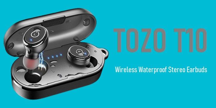 TOZO T10 - Wireless Waterproof Stereo Earbuds