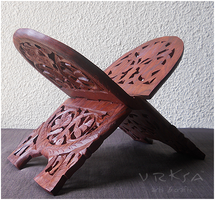 Vrksa Arts Amp Crafts Wooden Book Stand Indian Wooden Craft