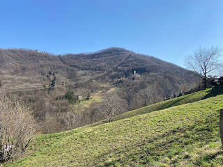 A view from Burro (a small hamlet south of Monte Nese) looking east toward Brumano.