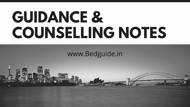 B.ed Notes on Guidance and Counselling PDF