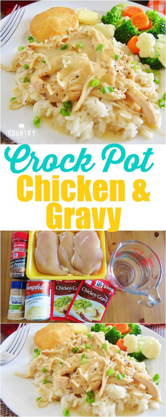 CROCK POT CHICKEN AND GRAVY #recipes #dinnerrecipes #easydinnerrecipes #easydinnerrecipesforfamily #quickdinnerrecipes #food #foodporn #healthy #yummy #instafood #foodie #delicious #dinner #breakfast #dessert #lunch #vegan #cake #eatclean #homemade #diet #healthyfood #cleaneating #foodstagram