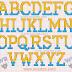 Alfabeto Amarillo y Azul Tipo Minions.